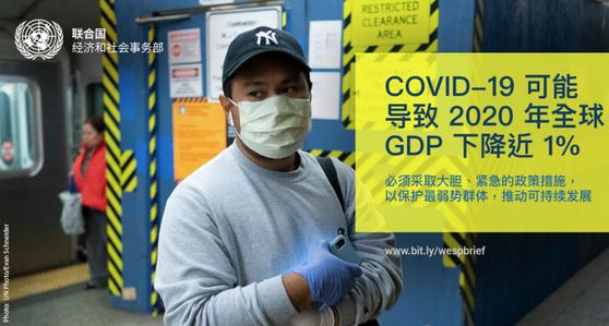 新型冠状病毒可能导致 2020 年全球 GDP 下降近 1%