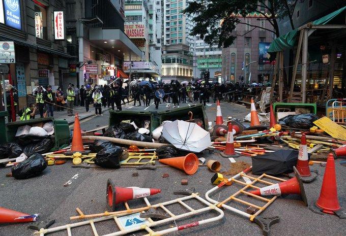 港版国安法今日执法铜锣湾非法集结30人被抓